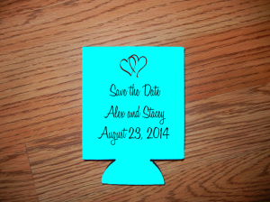 Save the date koozie