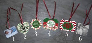 Personalized Double Sided Ornaments Designed By You!